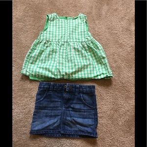 Baby gap tank and skirt